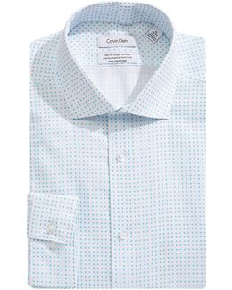 Steel Slim-fit Square Dot Dress Shirt