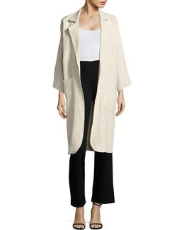 Stretch Handkerchief Hem Cardigan