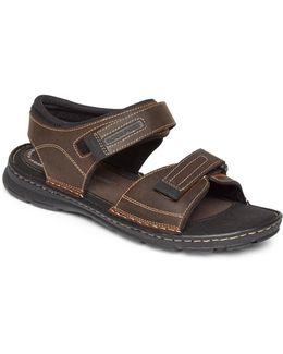 Darwyn Leather Quarter Strap Sandals
