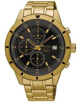 Chronograph Goldtone Bracelet Watch