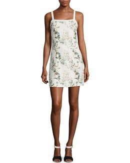 Gardine Floral Knit Mini Dress