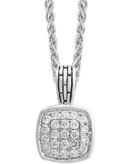 Sterling Silver White Sapphire Pendant Necklace