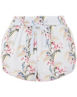 Tropical Print Floral Shorts