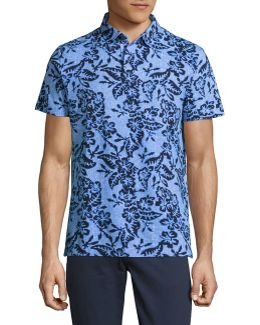Tropical Print Polo