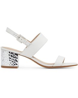 Brandey Blocky Heel Leather Sandals