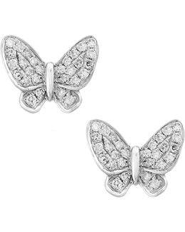 14k White Gold Earrings With 0.15 Tcw Diamonds