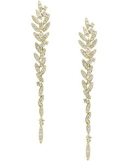 14k Yellow Gold Drop Earrings With 0.68tcw Diamonds