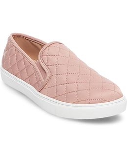 Womens Ecntrcqt Quilted Slip-on Sneakers