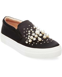 Glamour Beaded Slip-on Sneakers