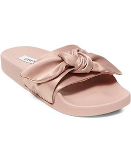 Silky Knotted Slide Sandals