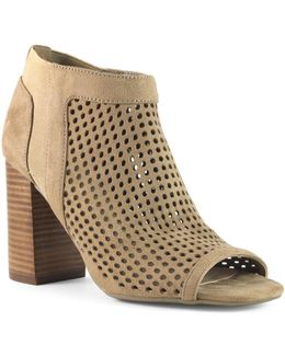 Daevon Perforated Suede Booties