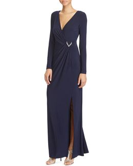 Slim-fit Shirred Jersey Gown
