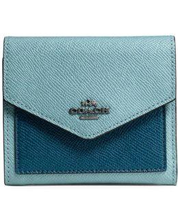 Small Colourblock Crossgrain Leather Wallet