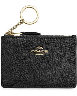 Mini Crossgrain Leather Skinny Card Case