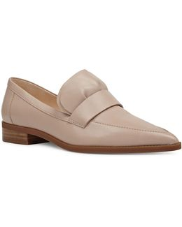 Strong Ruffled Leather Loafers