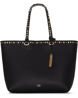 Tysa Studded Leather Tote