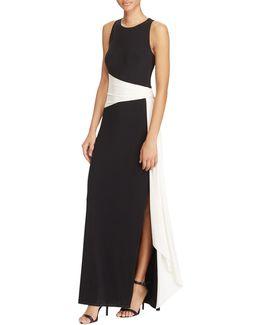 Slim-fit Colourblock Jersey Gown