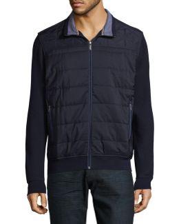 Knit Bomber Jacket
