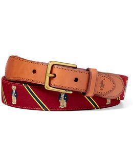 Polo Bear Overlay Webbed Belt