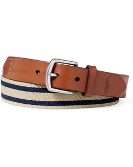 Striped Stretch Webbed Belt