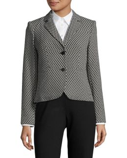 Jacquard Two-button Jacket