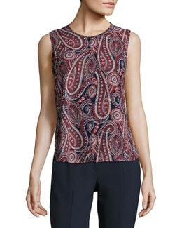 Paisley Sleeveless Tops