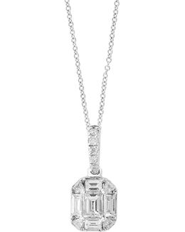 14k White Gold Pendant Necklace With 0.35 Tcw Diamonds
