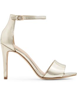 Fiolla Ankle Strap Leather High Heel Sandals