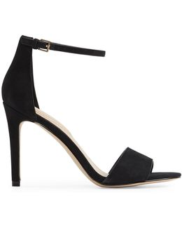 Fiolla Ankle Strap Nubuck High Heel Sandals