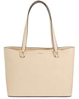 Cindy Saffiano Leather Tote