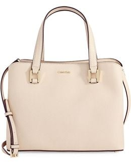 Cindy Saffiano Leather Satchel
