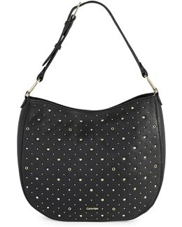 Erica Studded Leather Hobo Bag