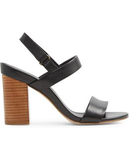 Juliett Two-piece Block Heel Sandals