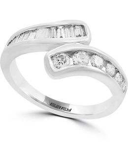 14k White Gold Ring With 0.61 Tcw Diamonds