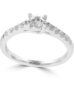 14k White Gold Ring With 0.49 Tcw Diamond
