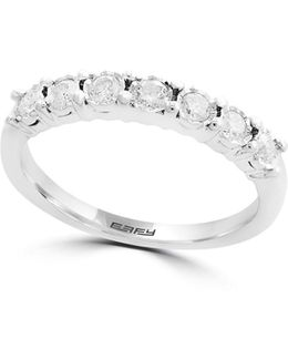 14k White Gold Single Row Ring 0.4 Tcw Diamond