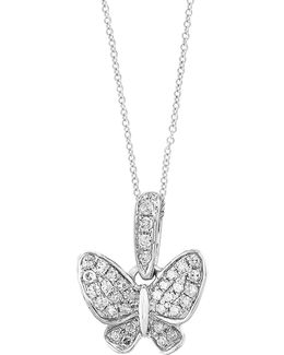 14k White Gold Pendant Necklace With 0.11 Tcw Diamonds