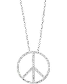 14k White Gold Pendant Necklace With 0.24tcw Diamonds