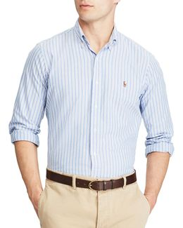 Standard Fit Multi-striped Oxford Shirt