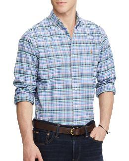 Standard Fit Plaid Oxford Shirt