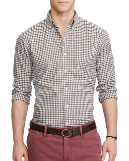Standard Fit Plaid Shirt