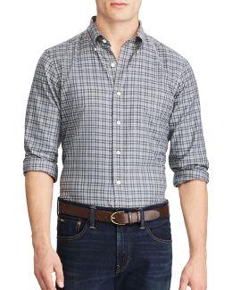 Standard-fit Plaid Cotton Shirt