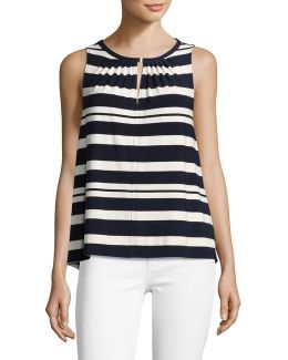 Striped Hardware Keyhole Top