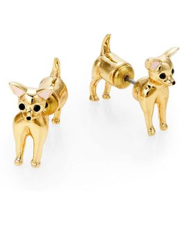 Chihuahua Front To Back Earrings