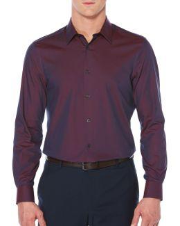 Big & Tall Luxury Twill Sport Shirt
