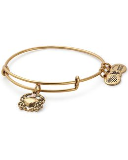 Swarovski Crystal Crab Charm Bracelet