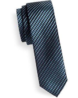 Gradient Skinny Silk Tie