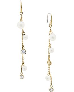 Beaded Crystal And Linear Earrings