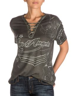 Lace-up Rocker Graphic Tee