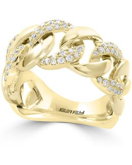 14k Yellow Gold Circular Ring With 0.32tcw Diamonds